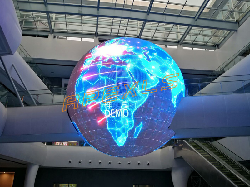 Diameter 8m LED sphere display In Nuclear power center