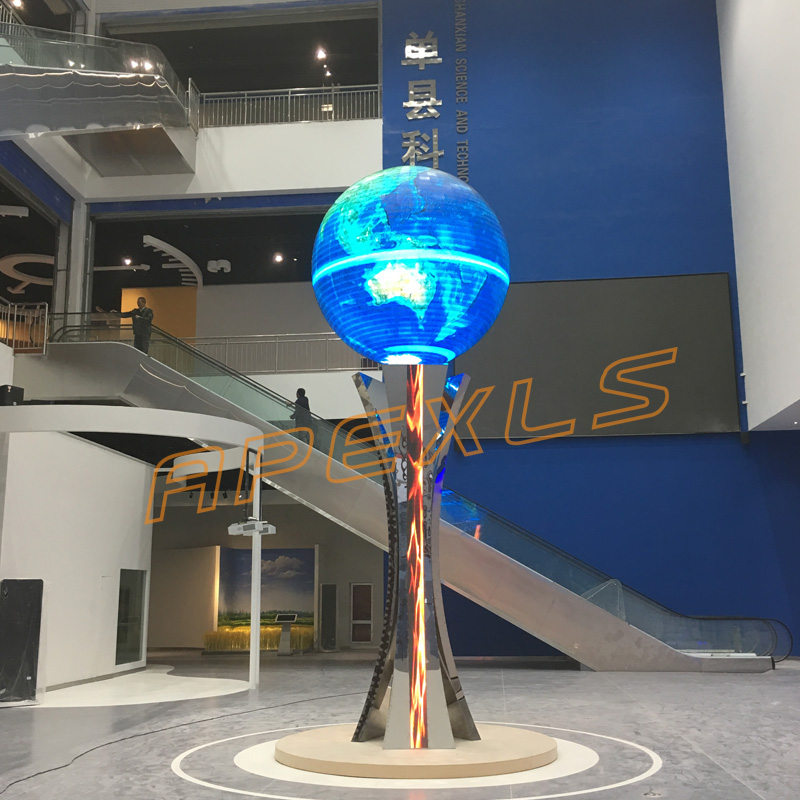 Moving LED sphere, Science museum