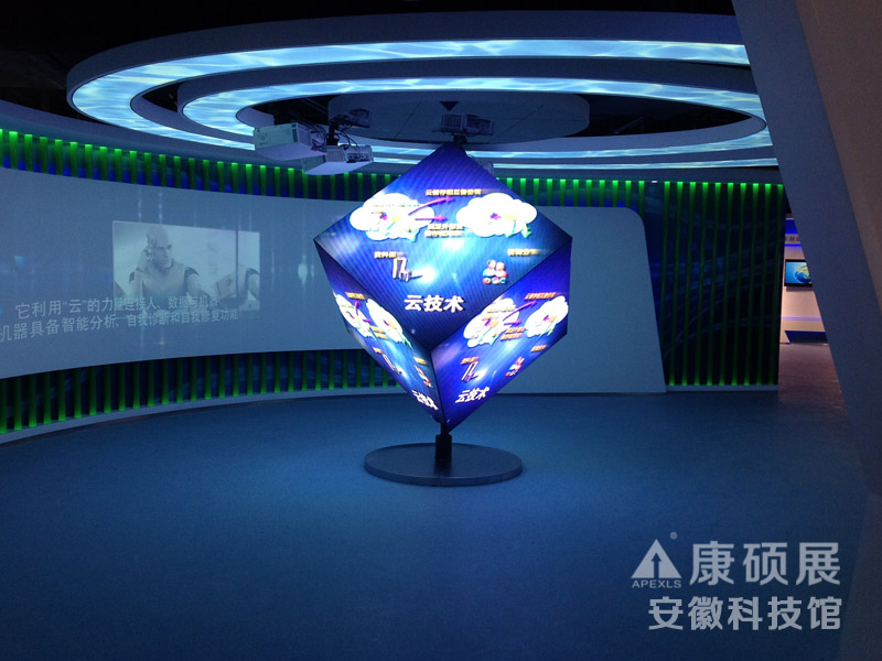 Cubic LED Display in Anhui Technology Museum