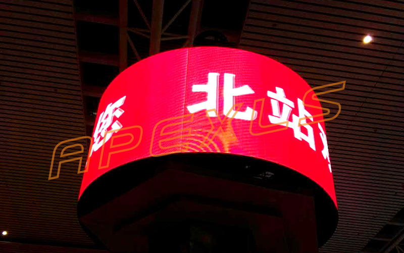 P4 Cylindrical LED Display for High speed train station, Shenyang