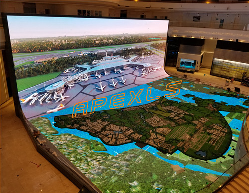P2.5 indoor Irregular LED display in Haikou, China