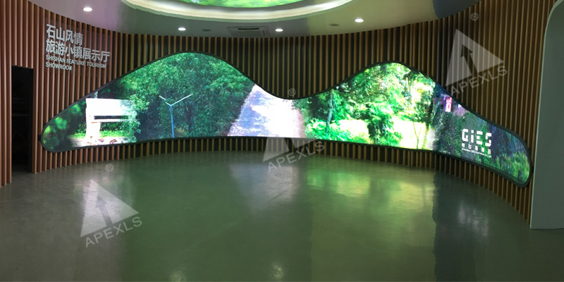 Indoor P4mm LED Display in Shishan Feature Tourism Showroom